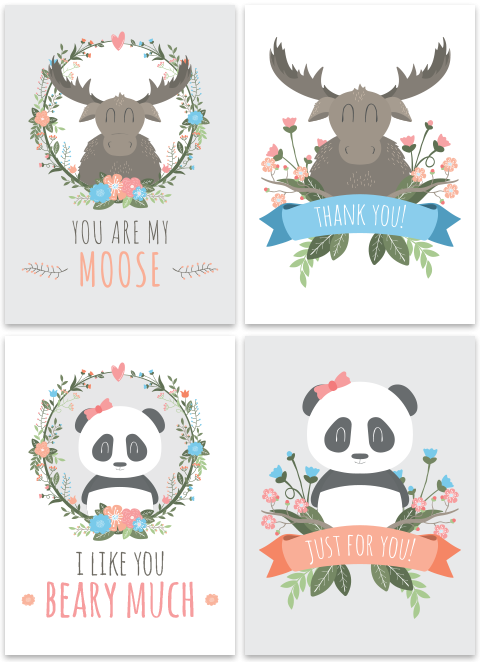 Moose and Panda Set